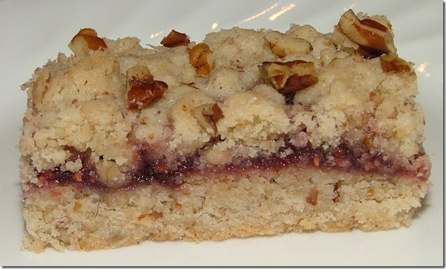 ... And Boys!: Raspberry Pecan Shortbread Bars--adapted from Baking Bites