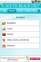 Screenshot of South Beach Diet