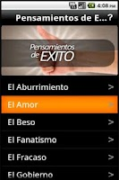 Screenshot of Pensamientos de Exito