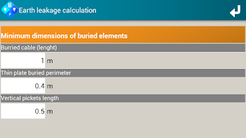 Screenshot of SEE Electrical Calculator V1