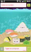 Screenshot of GO SMS Pro Sweet Sushi Theme