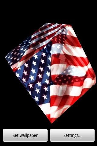 3D 미국 국기