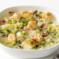 Potato-Leek Soup With Bacon
