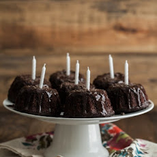 Mini Espresso Bundt Cakes with Dark Chocolate Ganache (+Giveaways)