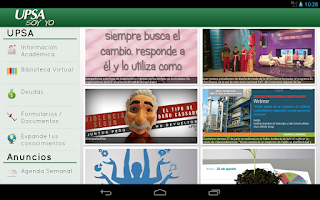 Screenshot of UPSAnet Droid