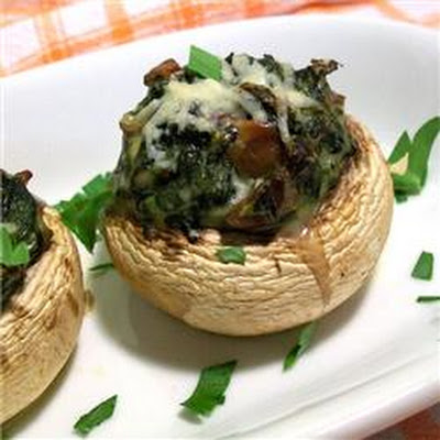 Stuffed Mushrooms with Spinach