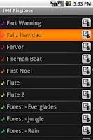 Screenshot of 1010 Android Ringtones Lite