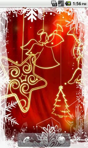 炫红圣诞动态壁纸