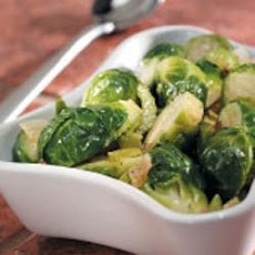 Brussels Sprouts with Green Peppers