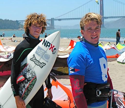 Jon Mordeca and Damien LeRoy, 4th and 1st respectively at the USKN (photo courtesy of Steven Gunn)