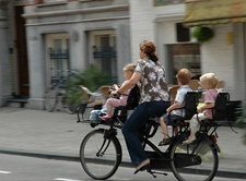 dutch kids on bike