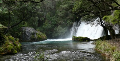 The falls before Tarawera Falls