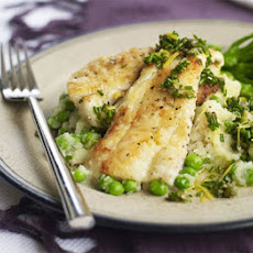 Zesty Haddock With Crushed Potatoes & Peas