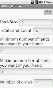 MTG Land Predictor - screenshot