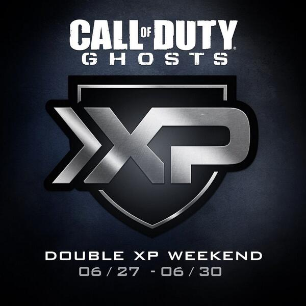 Call Of Duty: Ghosts has a double XP weekend beginning today
