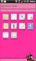 Screenshot of GO SMS - Equestrian Pink