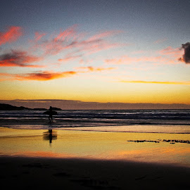 surfer heading home by Magdalena Wysoczanska - Landscapes Sunsets & Sunrises