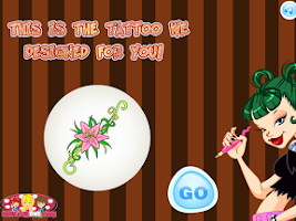 Screenshot of Tattoo Project Salon,Girl Game