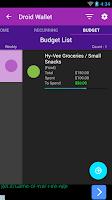 Screenshot of Droid Wallet