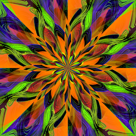 Flower 1 by Tina Dare - Illustration Flowers & Nature ( abstract, patterns, designs, colorful, flower, shapes )