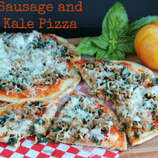 Sausage and Kale Pizza