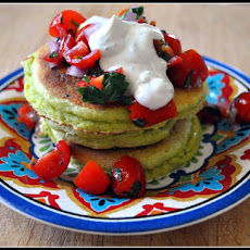 Cornmeal, Avocado, and Lime Pancakes