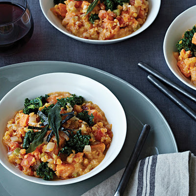 Red Lentils and Kale with Miso