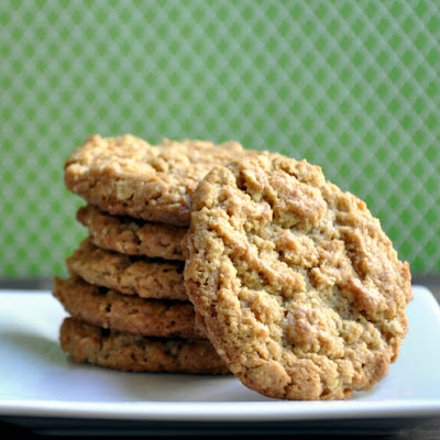 Peanut Butter and Walnut Oatmeal Cookies
