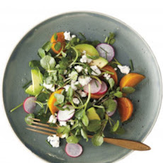 Roasted Golden-Beet, Avocado, and Watercress Salad