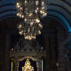 Ganesha by Vivek Kale - Buildings & Architecture Places of Worship ( lights, interior, dagdushet, ganapati, ganesh, pune, ganesha )