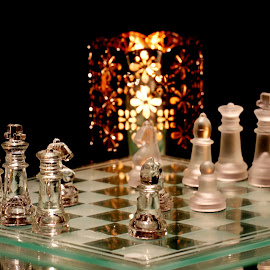 by Dipali S - Artistic Objects Other Objects ( pieces, candle, queen, board game, chess, king, light, pawn )