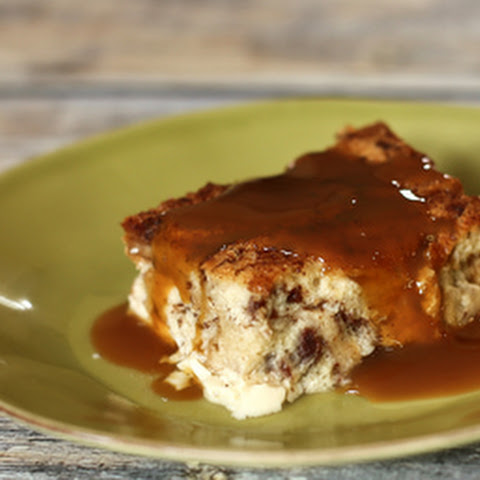 Egg Custard Bread Pudding with Nutmeg