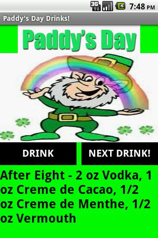Paddy's Day Drinks