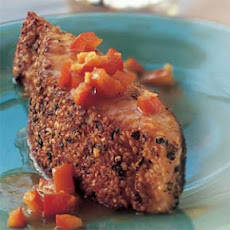Pepper, Coriander, and Sesame Seed-Crusted Salmon
