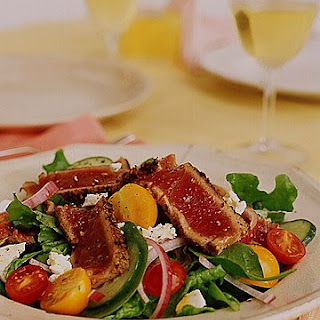 Orange Fennel Seared Tuna Salad