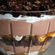 Caramel Brownie Cheesecake Trifle