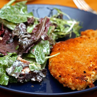 Chicken Cutlets with Creamy Parmesan Dressing