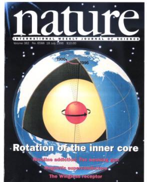 宋晓东通过研究穿过地核的地震波,推断出内核旋转速度要比外核快-Nature