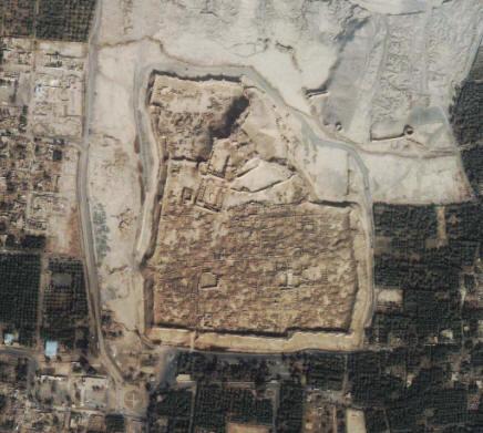 2003年伊朗巴姆地震卫星遥感图