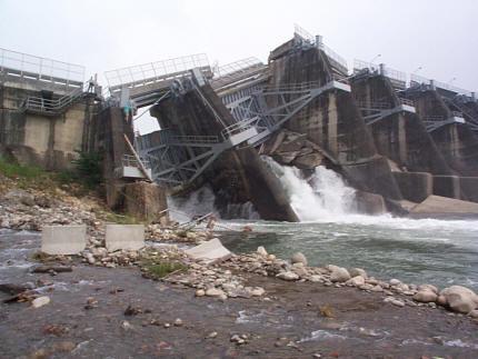 1999年台湾集集地震的震中-水坝倒塌
