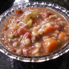 Hamburger Barley Stew (Crock Pot)