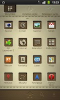 Screenshot of Leathery GO Launcher EX Theme