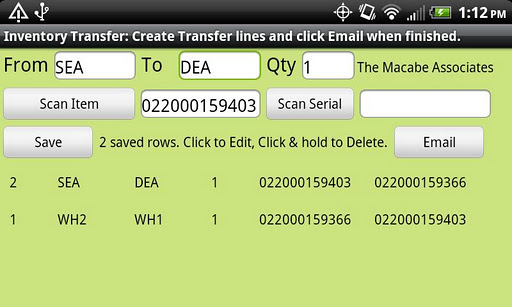 Inventory Transfer