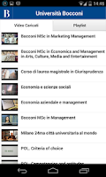 Screenshot of Bocconi