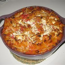 Four Cheese And Tomato Pasta Bake