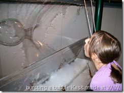 Kassity in the bubbles room... at Wonder Works