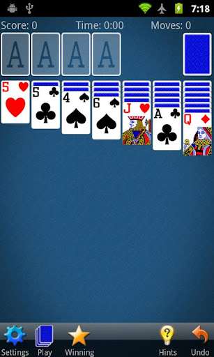 solitaire for android screenshot