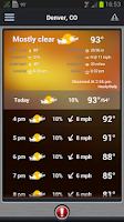 Screenshot of Pinpoint Weather