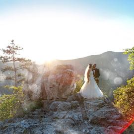 the height by David Ovidiu - Wedding Bride & Groom ( wedding, after-wedding, bride, groom )