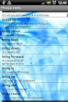 Screenshot of Phrasal Verbs